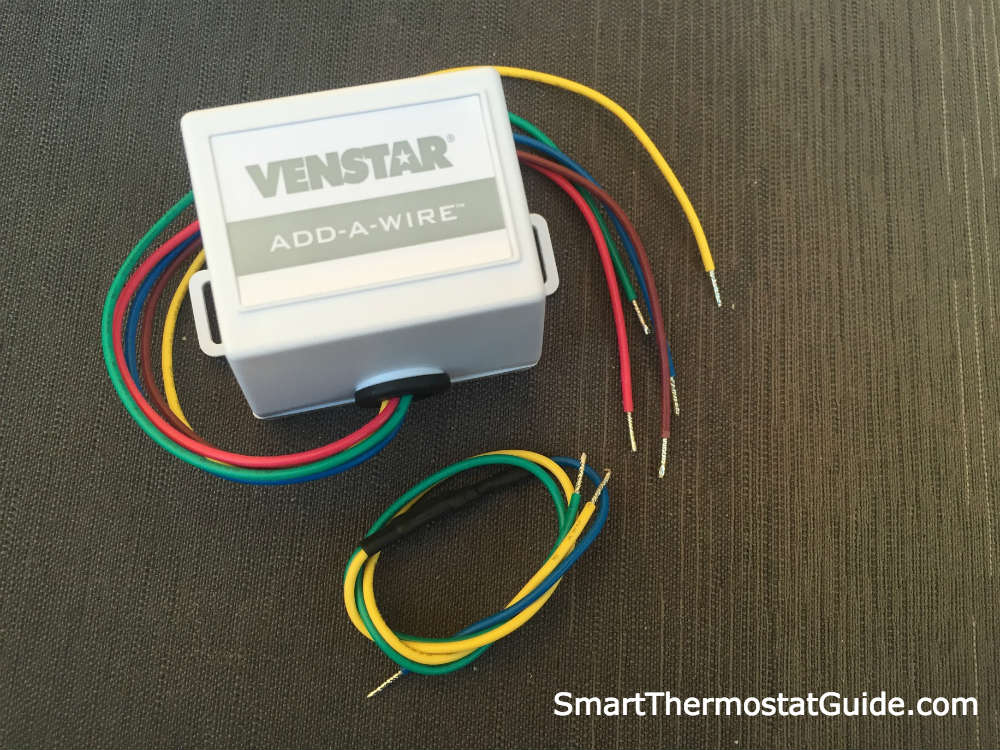 Photo of the Venstar Add-a-Wire adapter and wires