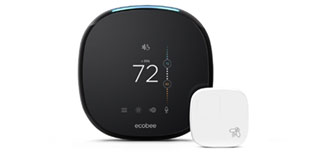 ecobee4 thermostat and room sensor