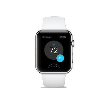 ecobee on an Apple Watch display